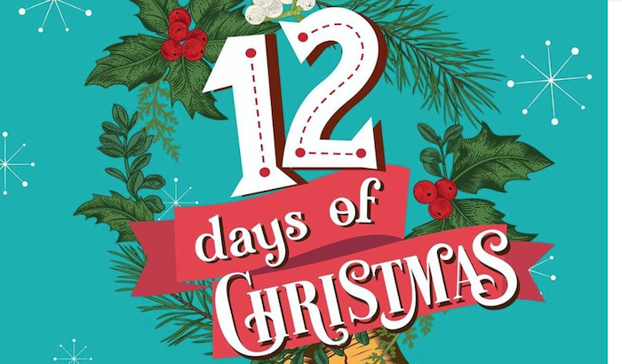 12 days of christmas pop up bar