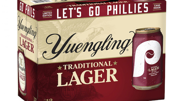 Yuengling Lager Phillies Beer Can