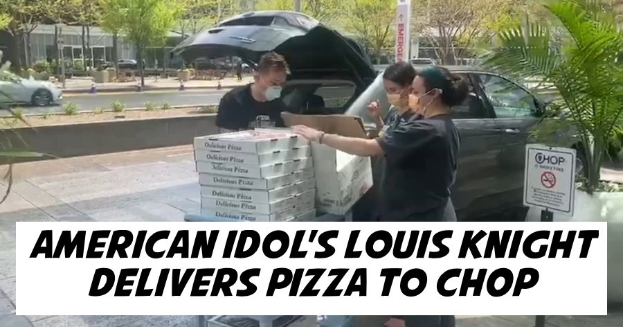 American Idol's Louis Knight Delivers Pizza to CHOP