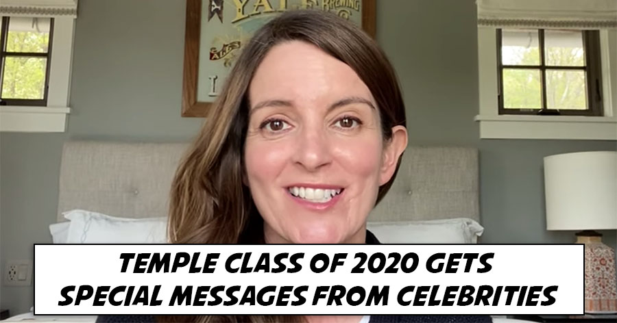 Temple Class of 2020 Gets Special Messages from Celebrities