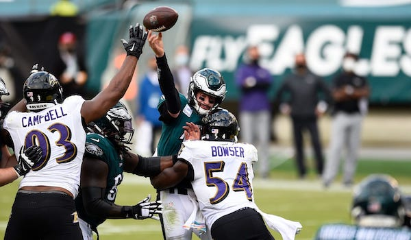 Eagles Fall to Ravens after Furious Second Half Rally - Wentz The Fearless