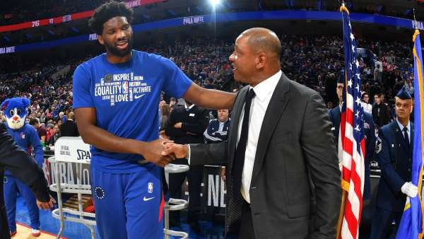 Joel Embiid and Doc Rivers