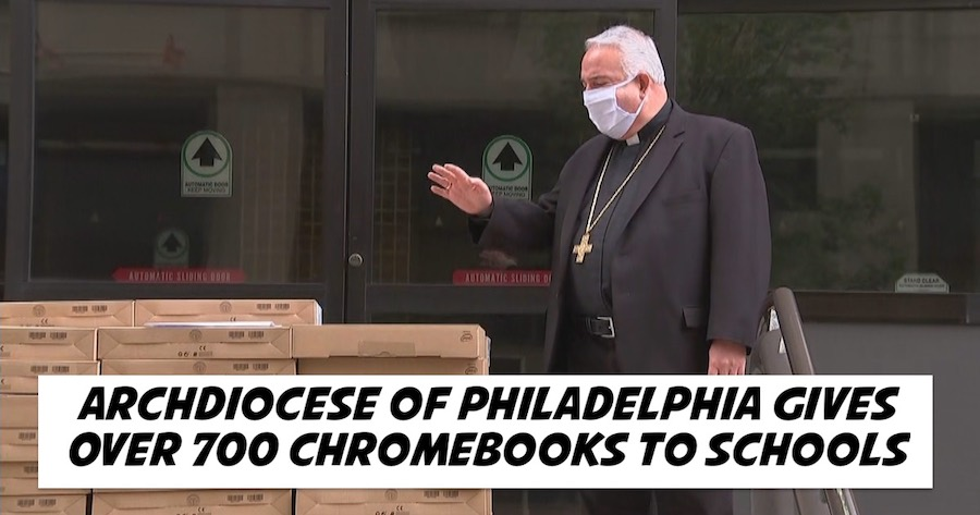 Archdiocese of Philadelphia Gives Over 700 Chromebooks to Schools in Need