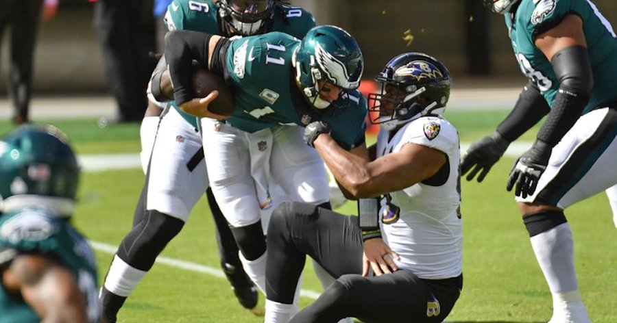 Eagles Fall to Ravens after Furious Second Half Rally