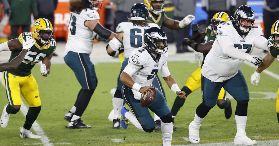 Eagles Can't Keep Pace with Packers; Wentz Benched for Hurts