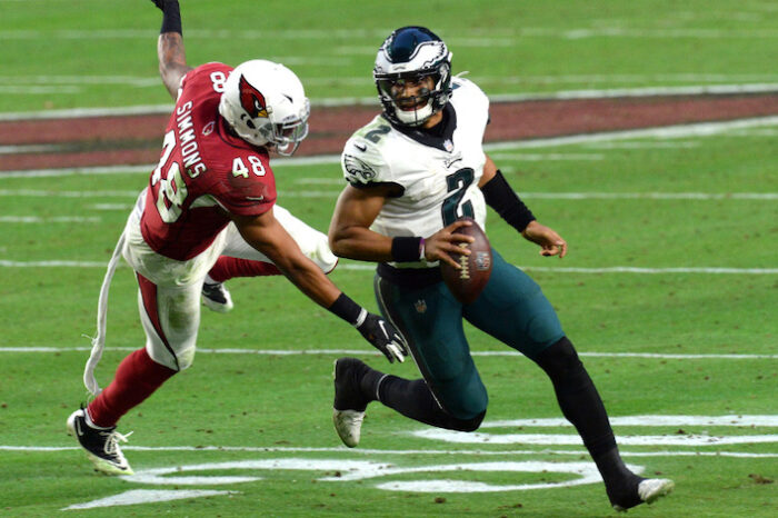 Eagles Fall to Cardinals 33-26, Hurts Still Electric