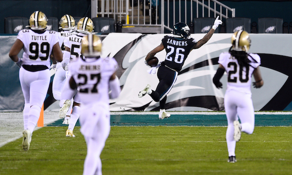 Eagles vs Saints - Miles Sanders