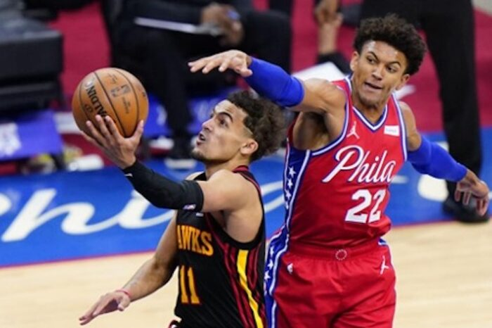 Hawks Torch Sixers Defense; Win Game 1 128-124